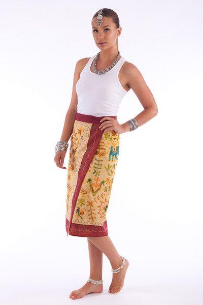 eb8f3773c6 Hippie Chic Rajasthani Embroidered Skirt $55 | HindiIndie Fashion ...