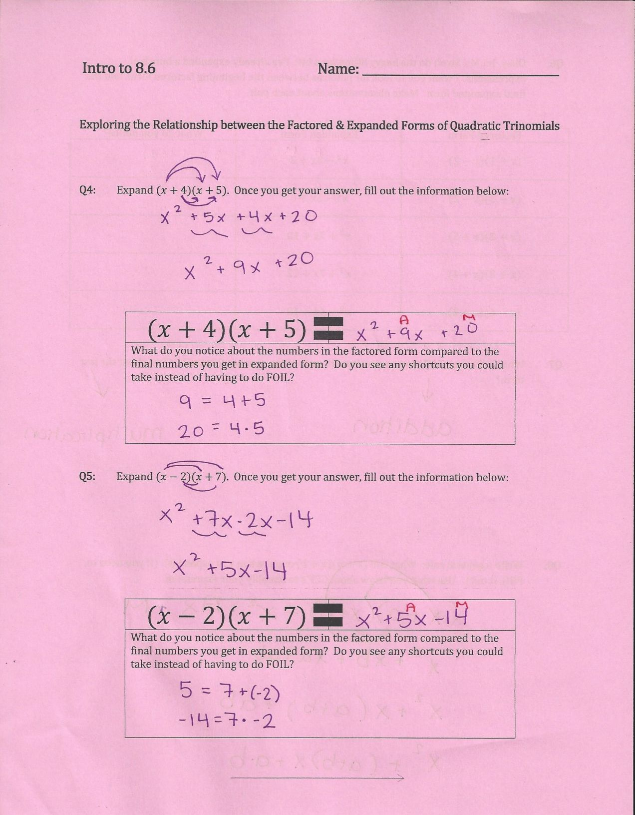 How I Teach Factoring Trinomials