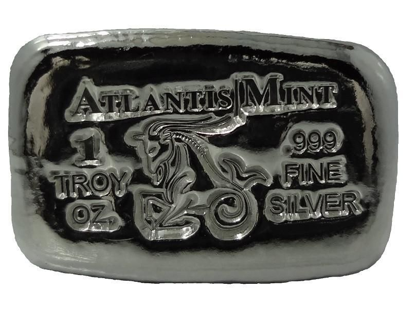 1 Troy Oz 999 Fine Silver Capricorn Hand Poured Bullion Bar Fine Silver Silver Hand Poured