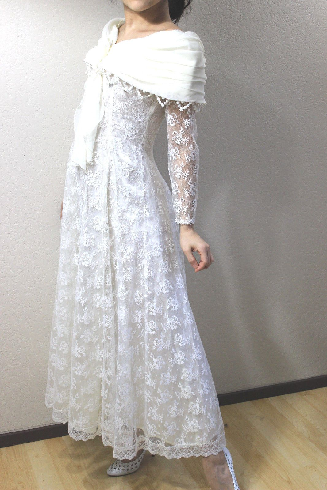 Nice awesome scott mcclintock white offshoulder lace boho dress
