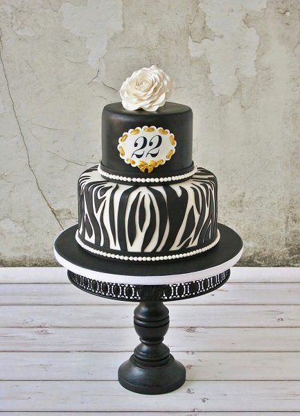 Gold & zebra - by Tamataartje @ CakesDecor.com - cake decorating website