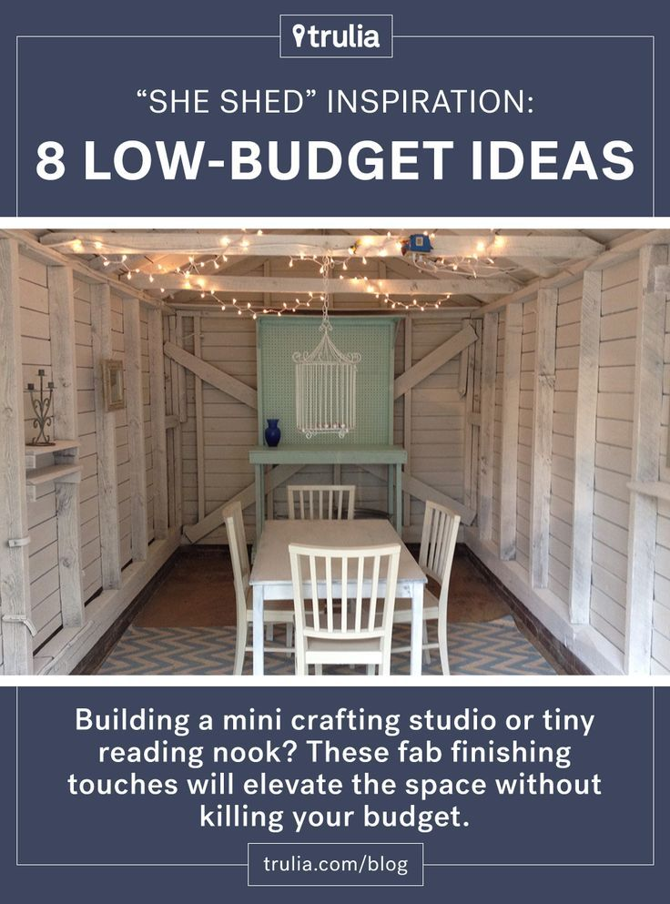 Man Cave Shed Interior Ideas : She shed inspiration low budget ideas that add value