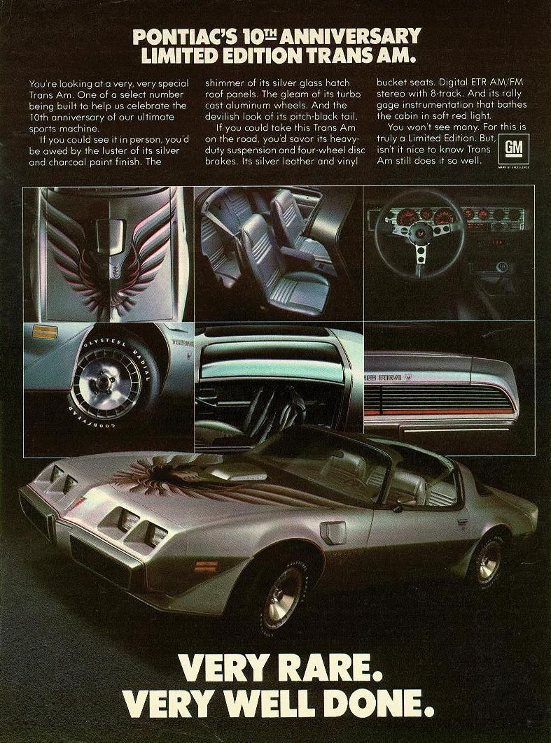1980 Trans Am Advert Very Race Very Well Done Trans Am Pontiac Pontiac Cars
