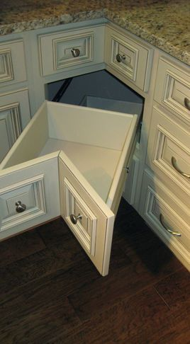 A drawer for the corner - every inch of space used ...
