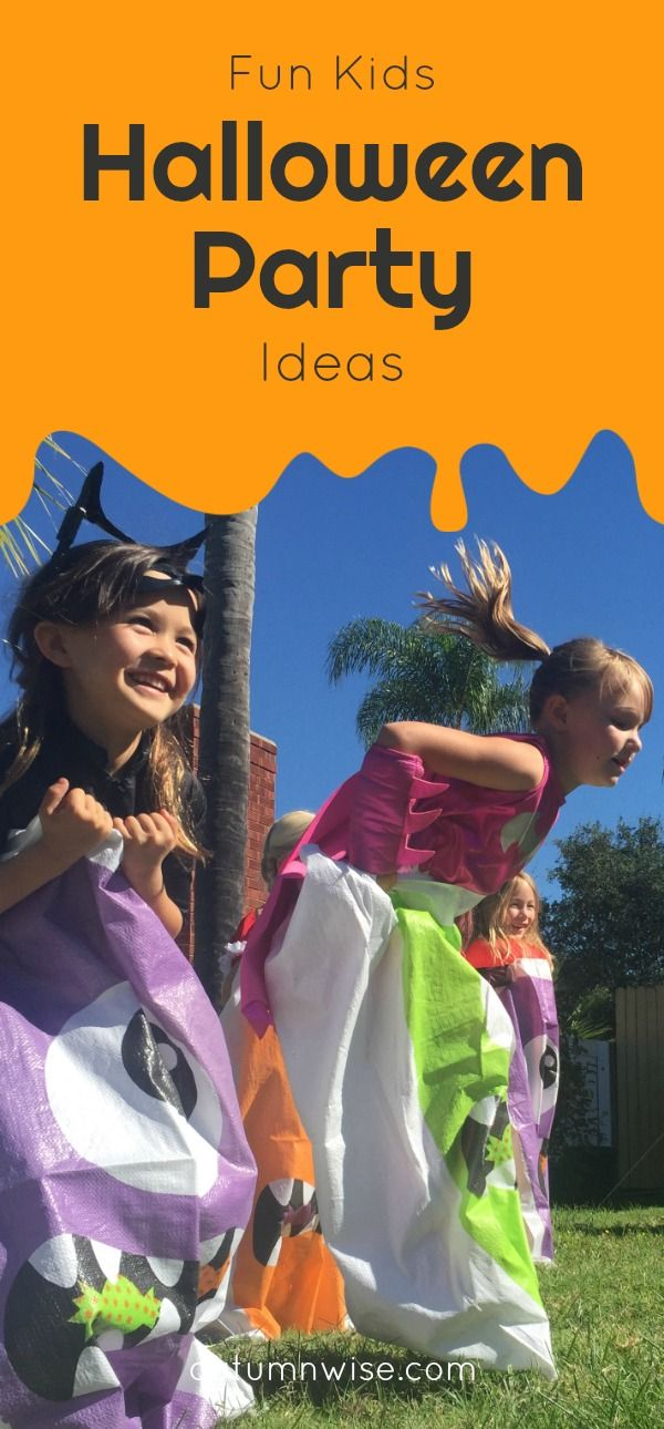 Halloween party ideas for kids! Sack races, bean bag toss, and mummy - halloween party ideas for kids