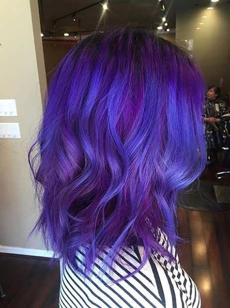 31 Colorful Hair Looks To Inspire Your Next Dye Job Page 2 Of 3 Stayglam Hair Color Purple Hair Styles Blue Purple Hair