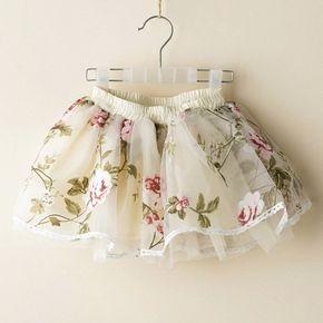 af99dd3cd Moda meninas tutu saias crianças tule rara saia meninas saia floral de  verão roupa das crianças menina roupas de faldas ninas