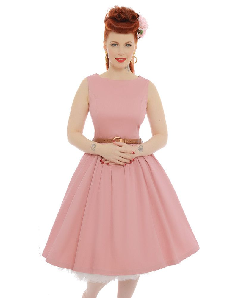 Audrey Dusky Pink Dress | Vintage Style Dresses - Lindy Bop | My ...
