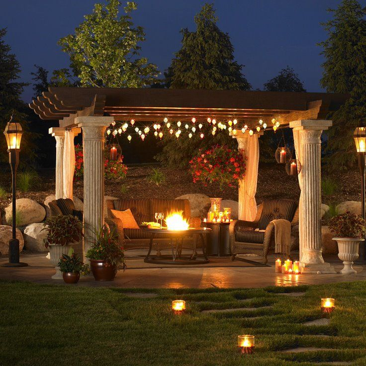 Hanging Outdoor Lights On Pergola: Create Your Own Backyard Escape With A Pergola! Decorate