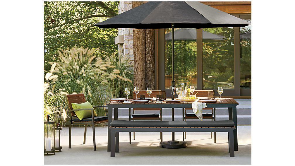 Rocha Ii Rectangular Dining Table Reviews Crate And Barrel Dining Table Outdoor Dining Table Patio Umbrella