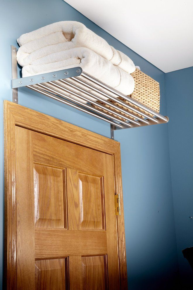 Umbra Bungee Over The Door Towel Rack Small Bathroom Storage
