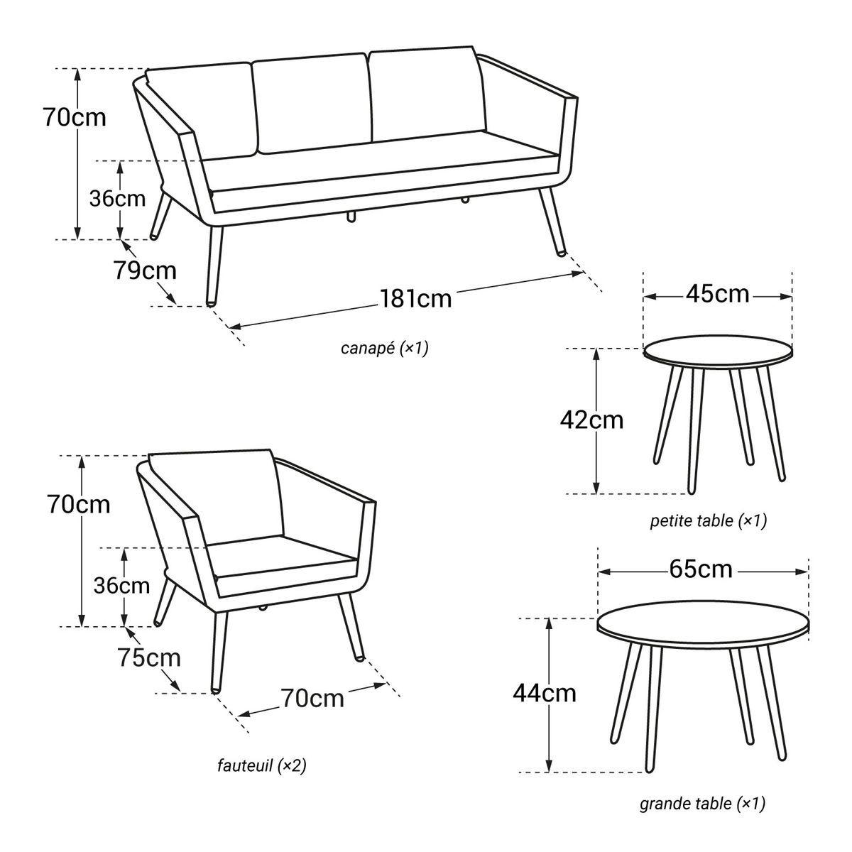 Salon de jardin Nouméa 5 places | Products | Agrément de ...