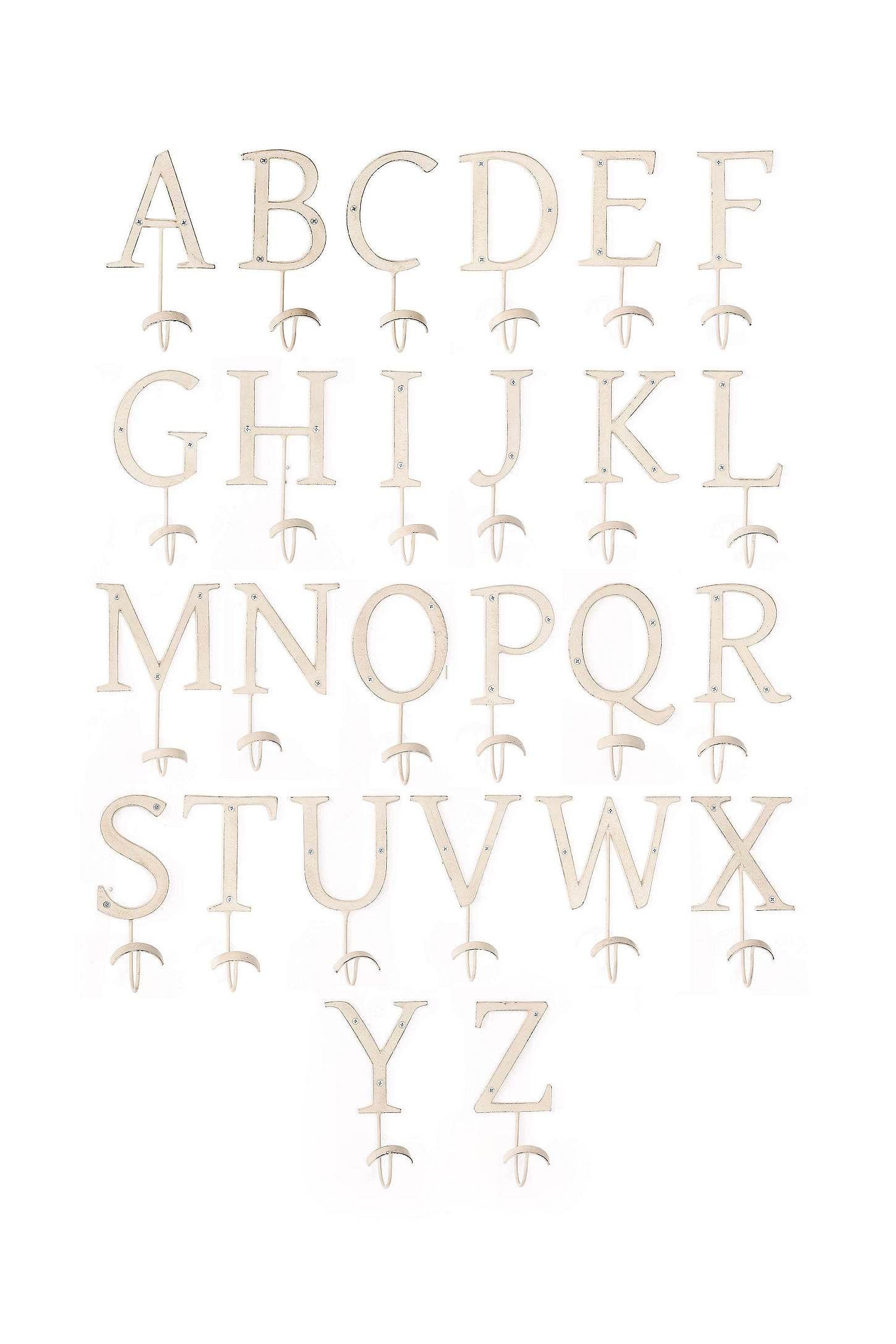 Letter Hooks Letter Hooks Alphabet Hooks Jones Design Company