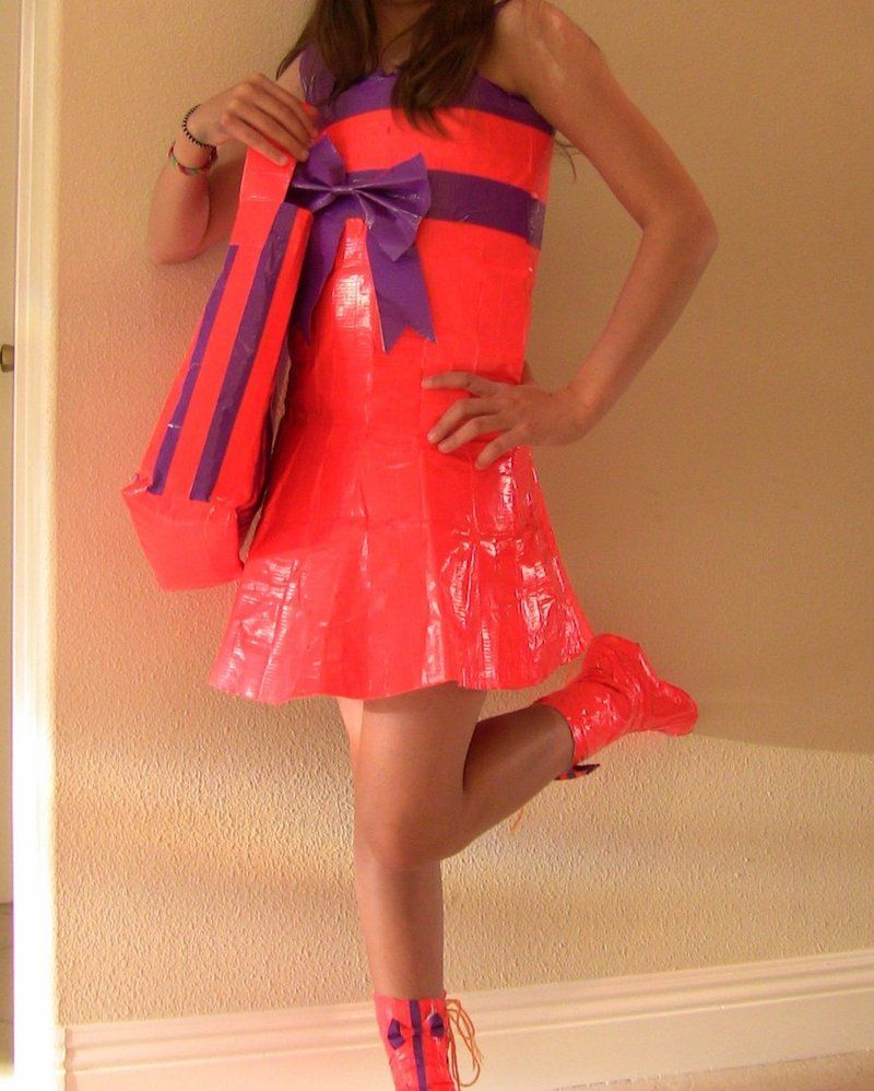 Dresse Duct Duck Tape Prom Dress | Duct Tape Dress by ...