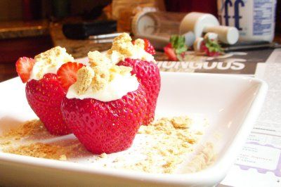 Use the Core and More to take the tops of Strawberries and then fill it with whipped cream and top with nuts!  Super fast appetizer and so yummy too.