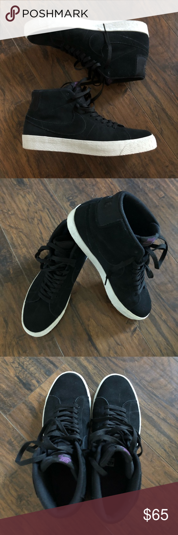 dac50f747cc1 Nike SB Zoom Blazer Mid Decon shoes Nike SB Zoom Blazer Mid Decon shoes in  black black-pro purple. Ships with original box. Only worn once and still  in like ...