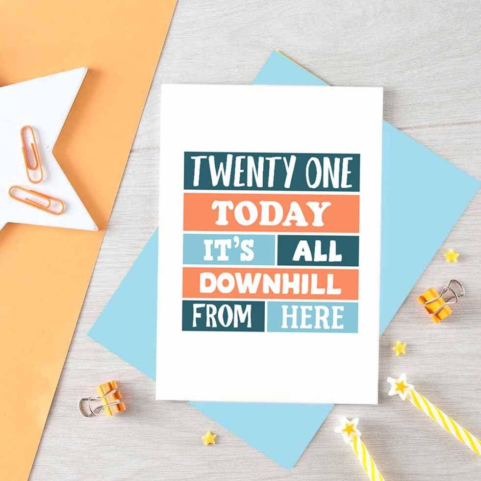Happy Twenty First Birthday Card