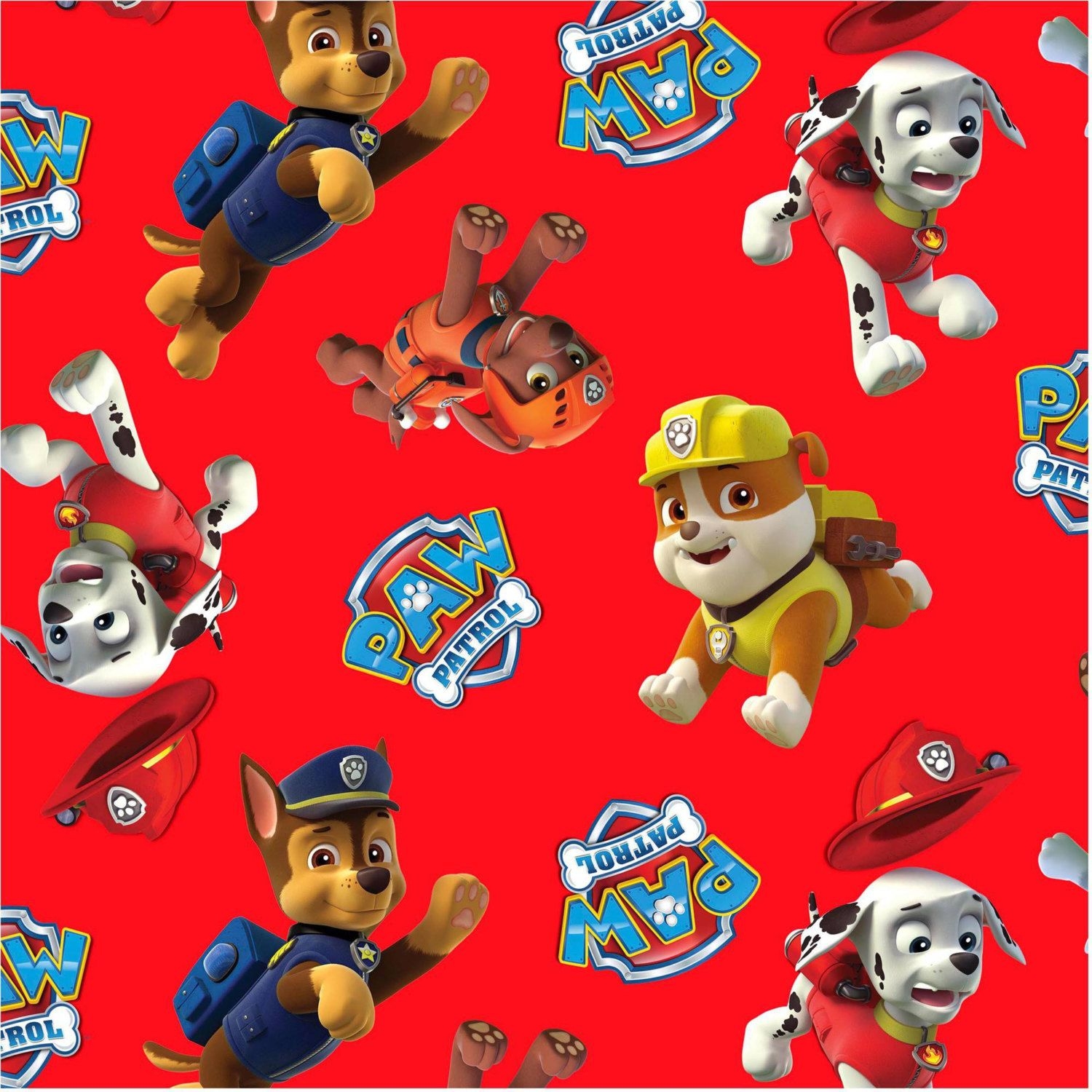 Paw Patrol Toss Licensed Cotton Fabric By David Textiles Etsy Arts Crafts Sewing Boy And Girl Cartoon Paw Patrol [ 1500 x 1500 Pixel ]