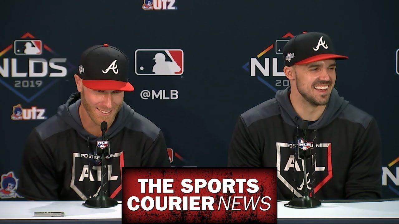 Atlanta Braves Nlds Post Game 2 Press Conference Tsc News Mlb Baseball Atlantabraves Atlanta Braves Braves Atlanta