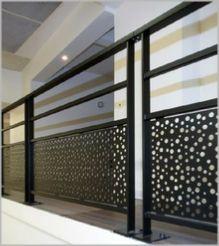 garde corps t le acier laqu e noire screen walls. Black Bedroom Furniture Sets. Home Design Ideas