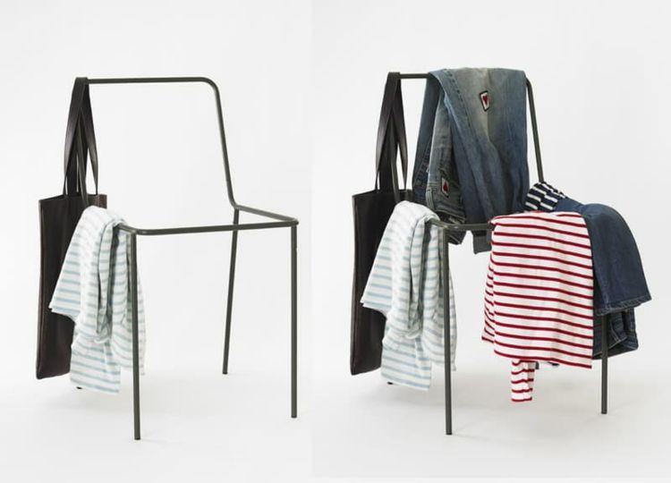 Portant Vêtement Original Valet De Chambre Penderie Et Porte - Chaise de chambre design