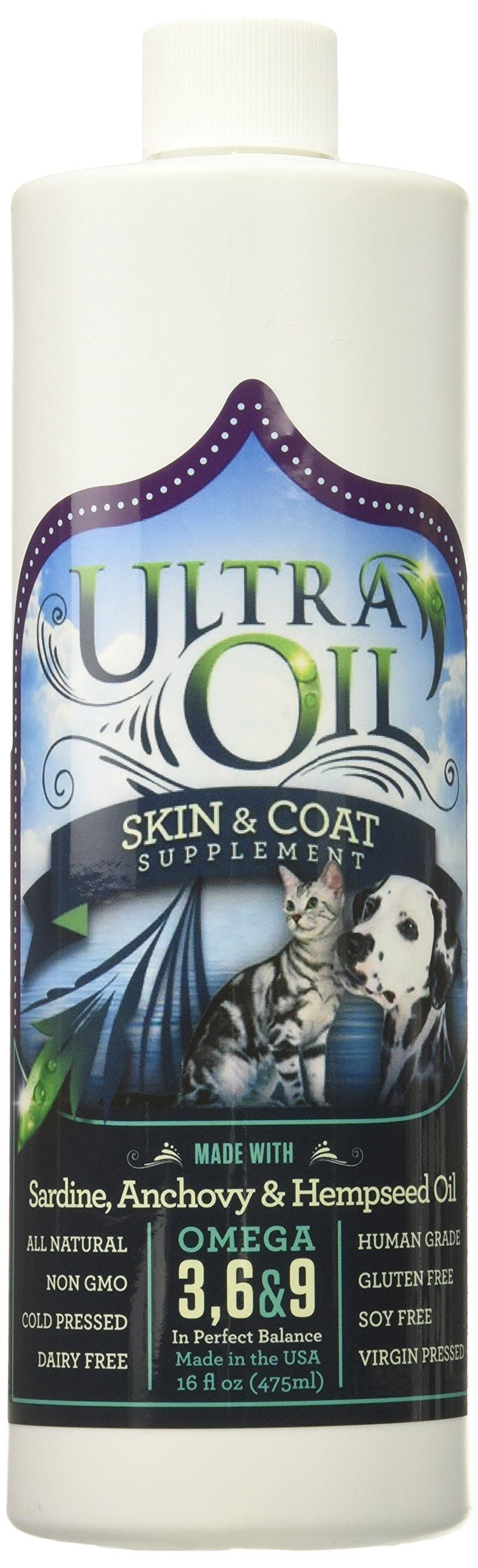 Ultra Oil Skin and Coat Supplement For Dogs and Cats With