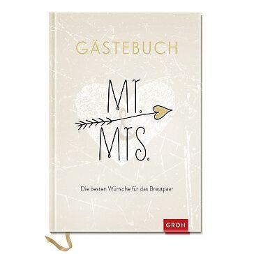 Eintragbuch Mr. & Mrs. für die Hochzeitsgäste