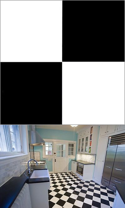 Other Flooring 20604 Black White Checkered Vinyl Floor Self Stick Tiles Adhesive 40
