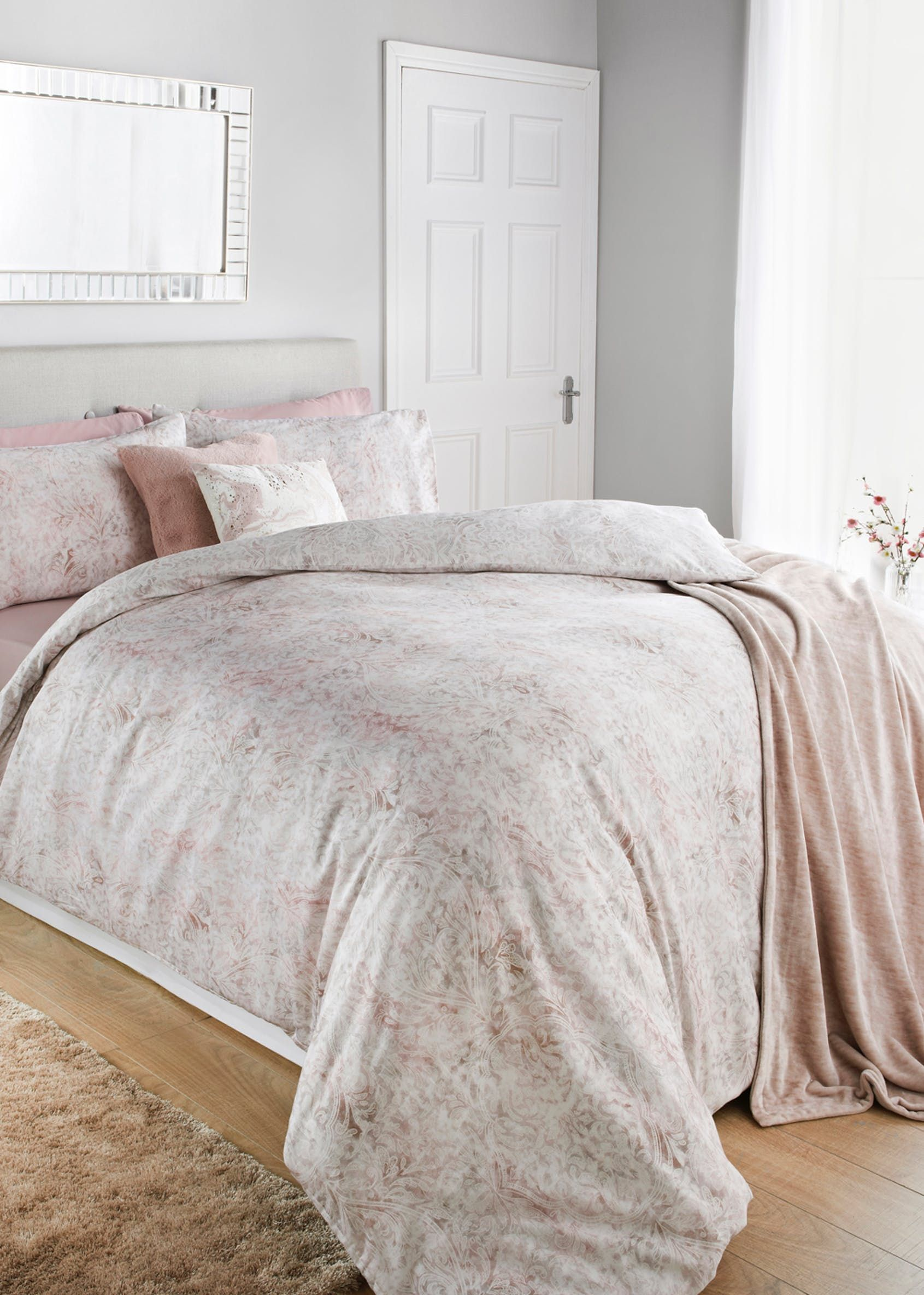 100 Cotton Paisley Duvet Cover Pink Bed linens luxury