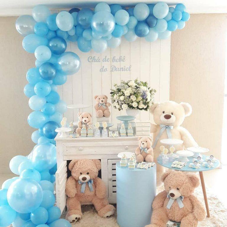 Baby Shower De Osos Para Nino Decoracion Baby Shower Baby Bear Baby Shower Bear Baby Shower Theme