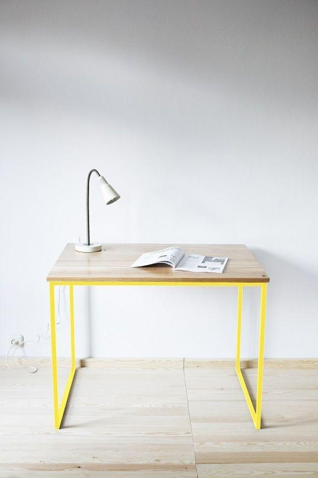 Tisch Industrial schreibtisch tisch industrial yellow interiors