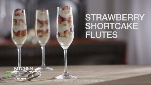 Simple, light Strawberry Shortcake recipe in champagne flutes | Food ...