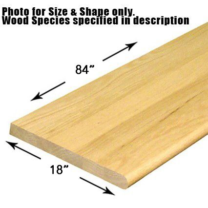 18 X 84 Bullnosed Stair Tread Wooden Stair Treads