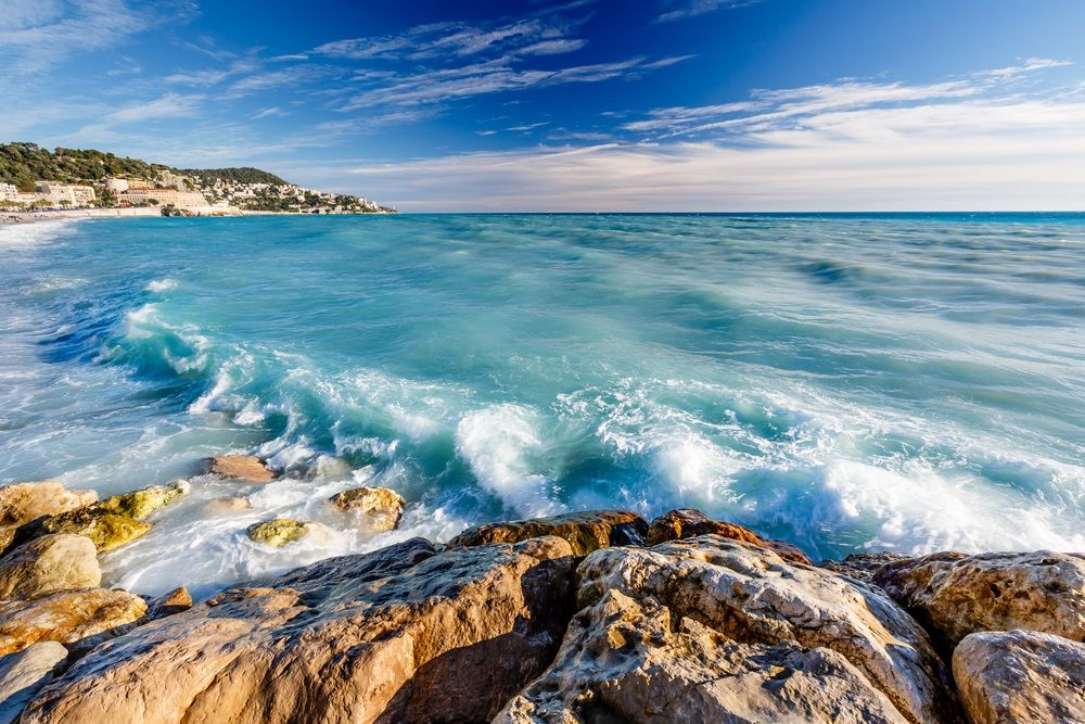 The French Riviera begins in Nice with Monaco to the East and Cannes to the West