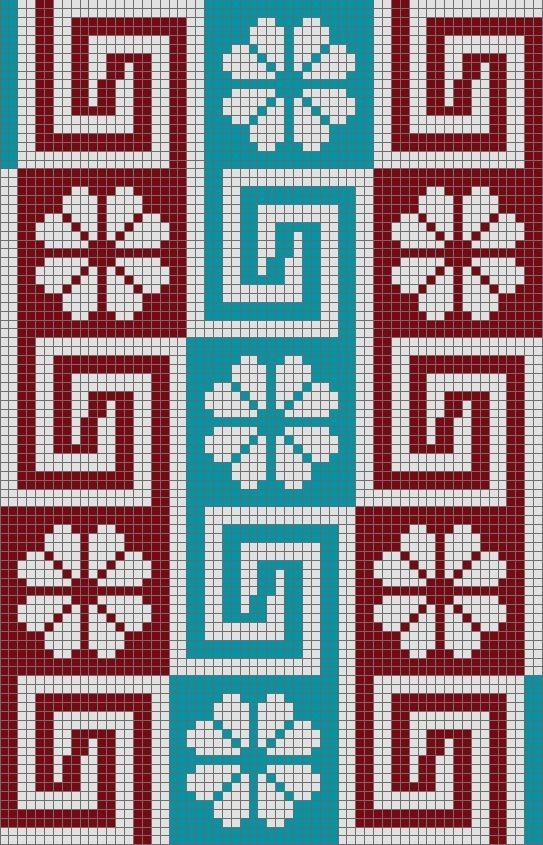 Wayuu Mochila chart   Telares hamaca   Pinterest   Muster, Gehäkelte ...