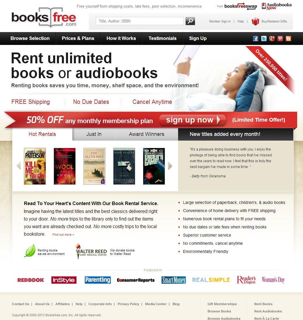 Interface Design For Washington Dc Book Retailer And Rental Service Book Rentals Audio Books Books