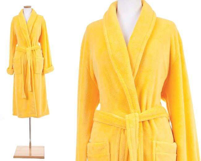 Pine Cone Hill Sheepy Fleece Robe Daffodil What A Girl