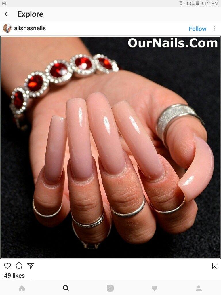 Beautiful Pink long nails   extra long   Pinterest   Dream nails ...