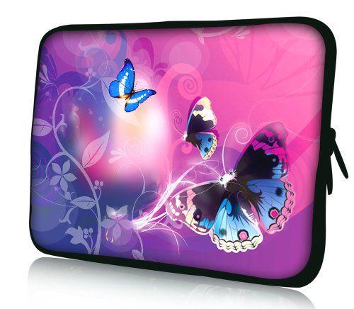 1b5dcae8f6 Luxburg design housse sacoche pochette pour ordinateur portable 102 pouces  motif: Papillons dans lumière rose