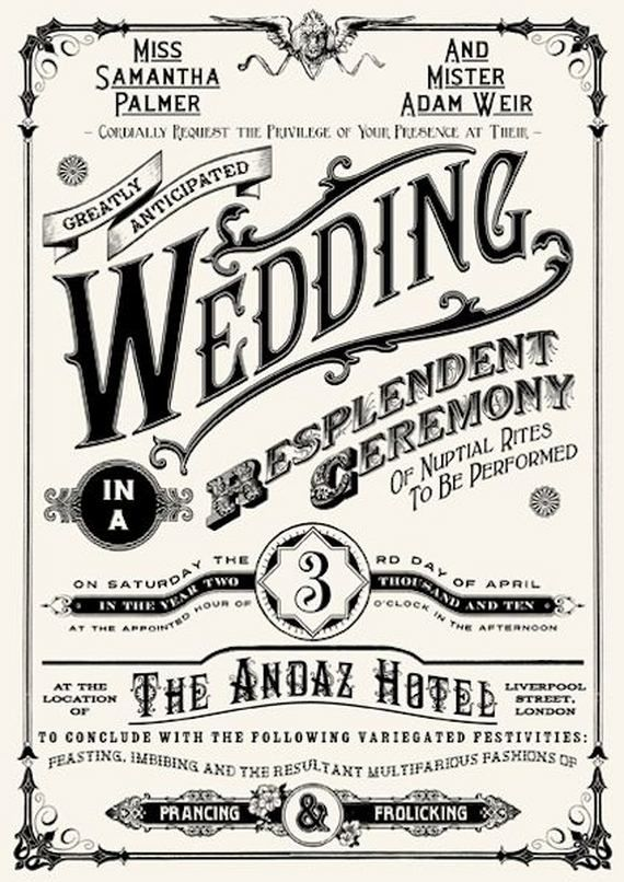 A little too hipster but the idea is cool Wedding Invites