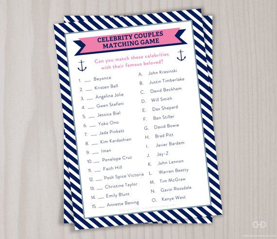 famous couples bridal shower game matching by dearhenrydesign 300