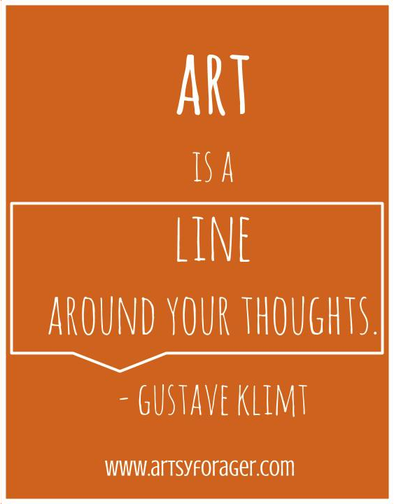 Line Art Quotes : Quote quot art is a line around your thoughts gustav