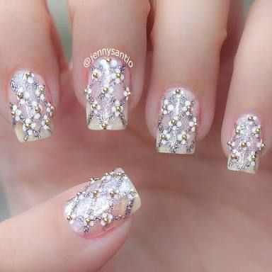 Image Result For Nail Art With Rhinestones Nail Design Pinterest