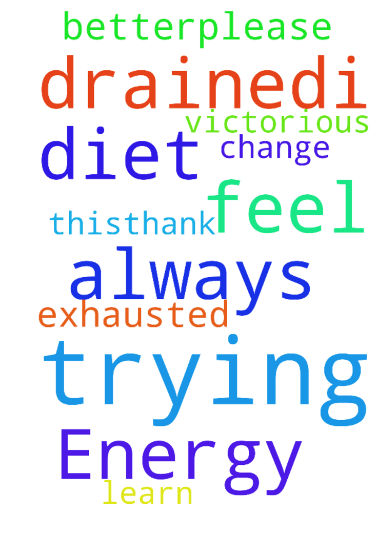 Prayer for Energy -  I am trying to learn why I always feel so exhausted and drained.I am trying to change my diet for the better.Please pray that I will be victorious with this.Thank you.  Posted at: https://prayerrequest.com/t/aAw #pray #prayer #request #prayerrequest