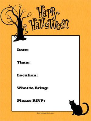 halloween party template invitations halloween fall