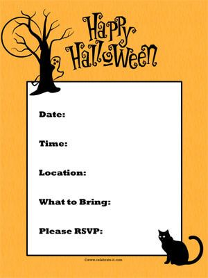 Halloween Party Template Invitations Free Halloween Party Invitations Kids Halloween Party Invitations Party Invite Template