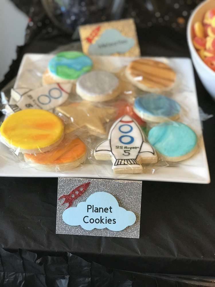 Check Out This Awesome Mix Of Cookies At Outer Space Birthday Party See More
