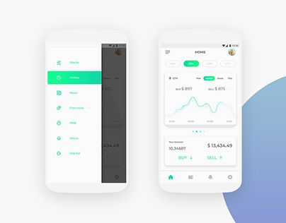 Cryptocurrency app on iphone