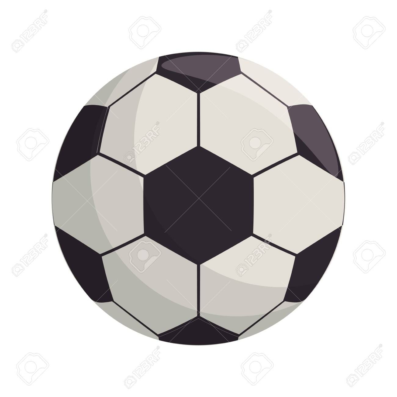 Soccer Football Ball Equipment Cartoon Isolated Vector Illustration Graphic Design Sponsored Equipment Cartoon Ball Football Ball Soccer Soccer Ball