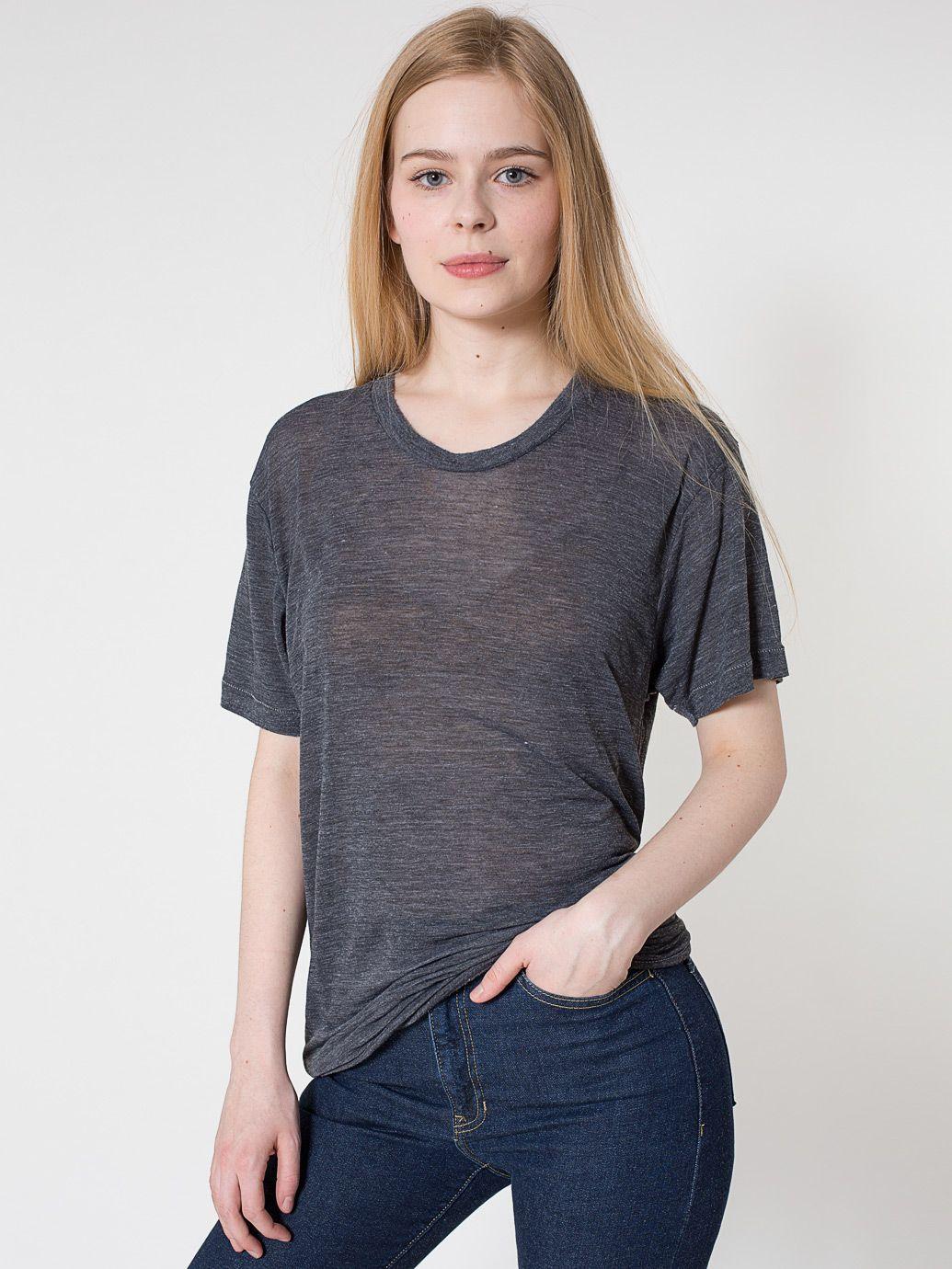 6e6a7e1e066 See Thru Tri-Blend Track Shirt. #AmericanApparel | Clothes | Shirts ...